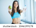 healthy lifestyle. happy woman... | Shutterstock . vector #1046199178