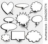 a set of comic speech bubbles... | Shutterstock .eps vector #1046200774