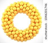 yellow candy gum balls round... | Shutterstock .eps vector #1046201746