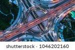 top view over the highway ... | Shutterstock . vector #1046202160