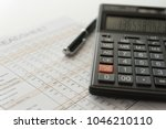 bookkeeping accounting concept. ... | Shutterstock . vector #1046210110