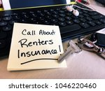 insurance for renters and... | Shutterstock . vector #1046220460