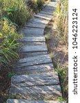 walkway or pathway in the...   Shutterstock . vector #1046223124