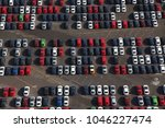 photo aerial of cars to be...   Shutterstock . vector #1046227474