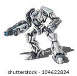 vector illustration of robot on ...