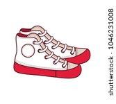 shoes for a teenager. vector... | Shutterstock .eps vector #1046231008