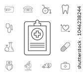 medical forms  medical...   Shutterstock .eps vector #1046238244