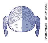 blue shading silhouette of...   Shutterstock .eps vector #1046241058