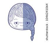blue shading silhouette of...   Shutterstock .eps vector #1046241064