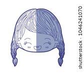 blue shading silhouette of... | Shutterstock .eps vector #1046241070