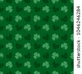 vector irish pattern . clovers... | Shutterstock .eps vector #1046246284