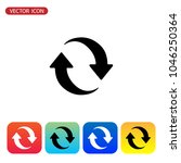update icon vector. refresh... | Shutterstock .eps vector #1046250364