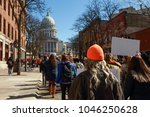teens marching to the capitol... | Shutterstock . vector #1046250628