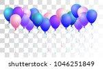 realistic helium balloons... | Shutterstock .eps vector #1046251849