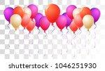 realistic helium balloons... | Shutterstock .eps vector #1046251930