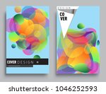 covers templates set with... | Shutterstock .eps vector #1046252593