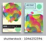 covers templates set with... | Shutterstock .eps vector #1046252596