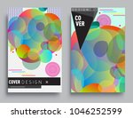 covers templates set with... | Shutterstock .eps vector #1046252599