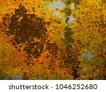 rusty steel sheet with heavy... | Shutterstock . vector #1046252680