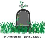 a tomb that has been neglected. ... | Shutterstock .eps vector #1046253019