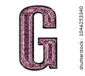 sparkly pink and black glitter... | Shutterstock . vector #1046253340