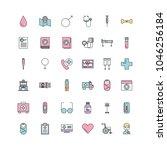 set of medical medicine science ...   Shutterstock .eps vector #1046256184