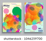 covers templates set with... | Shutterstock .eps vector #1046259700