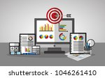 statistics data business | Shutterstock .eps vector #1046261410