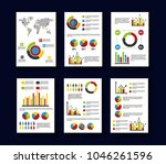 statistics data business report ... | Shutterstock .eps vector #1046261596