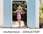 full length shot of slim lady... | Shutterstock . vector #1046267509