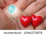 life insurance  shield... | Shutterstock . vector #1046273878