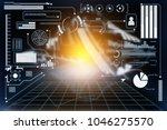 abstract technology ui... | Shutterstock . vector #1046275570