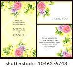 vintage delicate invitation...   Shutterstock .eps vector #1046276743