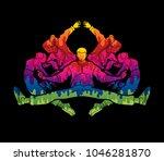 group of people dancing  dancer ... | Shutterstock .eps vector #1046281870