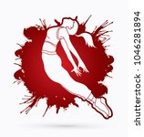 street dance  dancer action... | Shutterstock .eps vector #1046281894