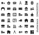 flat vector icon set  ... | Shutterstock .eps vector #1046283556