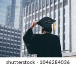 graduation day  back view of... | Shutterstock . vector #1046284036