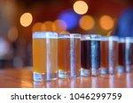 Variety Of Craft Beers Lined U...