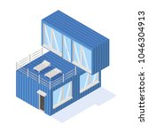 containers house isometric icon ... | Shutterstock .eps vector #1046304913