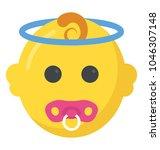a flat design of newborn baby...   Shutterstock .eps vector #1046307148