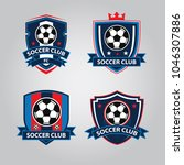 set of soccer football badge... | Shutterstock .eps vector #1046307886