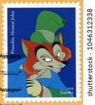 Small photo of UNITED STATES OF AMERICA - CIRCA 2017: forever post stamp printed in USA (US) shows fox liar Honest John from Pinocchio; villains series; Scott 5214, circa 2017