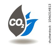 co2 leaf icon vector. ecology ... | Shutterstock .eps vector #1046314813