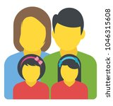 a family unit with a mother ...   Shutterstock .eps vector #1046315608