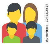 a family unit with a mother ...   Shutterstock .eps vector #1046315614