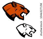 cougar head. sport team mascot... | Shutterstock .eps vector #1046327158