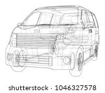 concept car. vector rendering... | Shutterstock .eps vector #1046327578