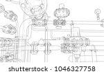 sketch industrial equipment.... | Shutterstock .eps vector #1046327758