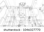 sketch industrial equipment.... | Shutterstock .eps vector #1046327770