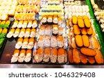 various sushi in street market | Shutterstock . vector #1046329408